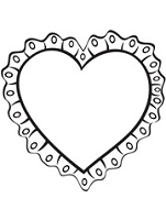 Prickley Pear - Cling Rubber Stamp - Ruffled Heart