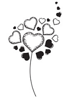 Prickley Pear - Cling Rubber Stamp - Heart Dandelion