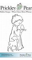 Prickley Pear - Cling Stamp - Child with Lamb