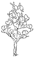 Prickley Pear - Cling Stamp - Flowering Tree