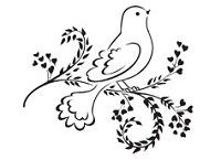 Prickley Pear - Cling Stamp - Dove on Heart Vine