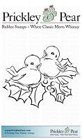 Prickley Pear - Cling Stamp - Two Birds with Holly