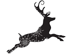 Prickley Pear Cling Stamp - Flourished Reindeer
