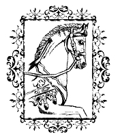 Prickley Pear - Cling Stamp - Framed Carousel Horse