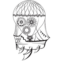 Prickley Pear - Cling Rubber Stamp - Steampunk Drifter