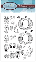 Prickley Pear Clear Stamp  - Mini Owls  Set 2