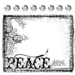 Prima Collage Stamp - Peace Frame