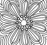 Prima Clear Stamp - Paintable Flower Doodle