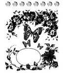 Prima Collage Stamp - Butterfly Vine