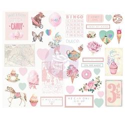 Prima - Dulce Collection - Chipboard Stickers