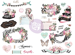 Prima - Havana Collection - Chipboard Stickers