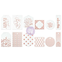Prima - Heaven Sent Collection - Watercolor Tags & Tabs