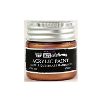 Prima - Art Alchemy - Acrylic Paint-Metallique Brass Hardware by Finnabair