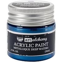 Prima - Art Alchemy - Acrylic Paint-Metallique Deep Waters by Finnabair