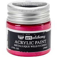 Prima - Art Alchemy - Acrylic Paint-Metallique Wild Fuchsia by Finnabair