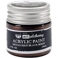 Prima - Art Alchemy - Acrylic Paint-Metallique Black Berry by Finnabair