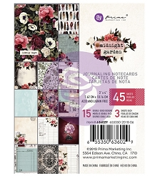 Prima - Midnight Garden Collection - 3x4 Journaling Cards