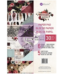 Prima - Midnight Garden Collection - A4 Paper Pad