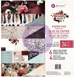 Prima - Midnight Garden Collection - 12x12 Paper Pad