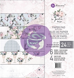 Prima - Poetic Rose Collection - 12x12 Paper Pad