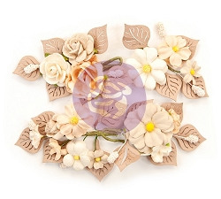 Prima - Pretty Pale Collection Flowers - Rustic Floral
