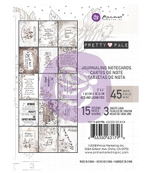 Prima - Pretty Pale Collection - 3x4 Journaling Cards