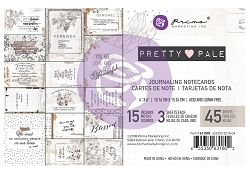 Prima - Pretty Pale Collection - 4x6 Journaling Cards