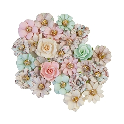 Prima - Sugar Cookie Collection Flowers - Pink Christmas