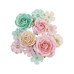 Prima - Sugar Cookie Collection Flowers - Pink Jolly