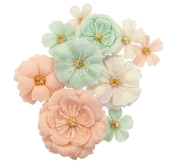 Prima - Apricot Honey Collection Flowers - Blush & Mint