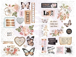 Prima - Apricot Honey Collection - Chipboard Stickers