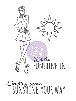 Prima - Cling Mounted Rubber Stamp - Mixed Media Dolls - Sunshine Set by Julie Nutting