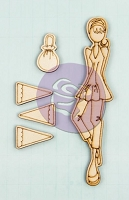 Prima - Mixed Media Laser Cut Wood Doll Shapes - Ariana by Julie Nutting