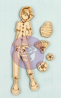 Prima - Mixed Media Laser Cut Wood Doll Shapes - Chloe by Julie Nutting