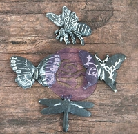 Prima - Resin Icon Embellishments In A Box - Chalk Black Butterflies :)