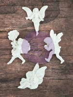 Prima - Resin Icon Embellishments In A Box - White Fairies