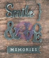 Prima - Resin Icon Embellishments In A Box - Chalk Black Words