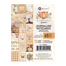 Prima - Autumn Sunset Collection - 3x4 Journaling Cards