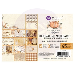 Prima - Autumn Sunset Collection - 4x6 Journaling Cards