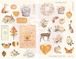 Prima - Autumn Sunset Collection - Chipboard Stickers