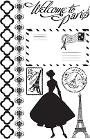 Prima - Welcome To Paris Collection - Cling Stamp :)