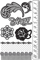 Prima - Rosarian Collection - Cling Stamp set
