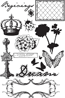 Prima - Zephyr Collection - Cling Stamp - Zephyr