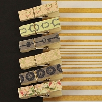 Prima - Tea Thyme Collection - Canvas Wood Clips