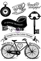 Prima - Delight Collection - Cling Stamp Set