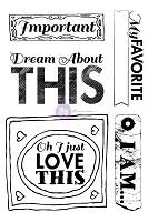 Prima - Cling Stamp Set - All About Me