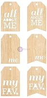 Prima - All About Me - Wood Tags