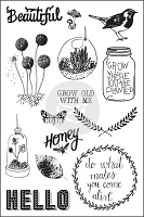 Prima - Forever Green Collection - Cling Rubber Stamp (4