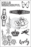 Prima - Cigar Box Secrets Collection - Cling Rubber Stamp (4