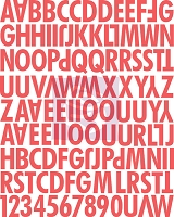 Prima - Lyric Collection - Uppercase Canvas Alphabet Stickers